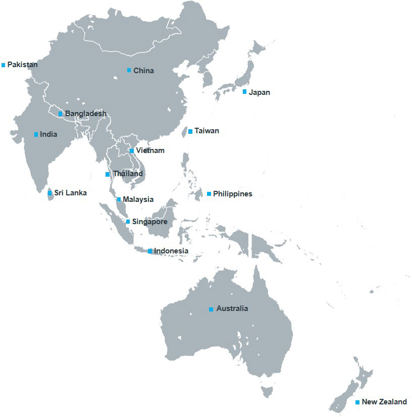 Map Of Asia And Pacific.About Asia Pacific Iqvia