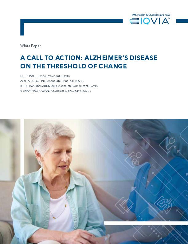 A Call to Action Alzheimers Disease on the Threshold of Change