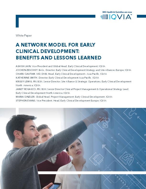 A Network Model for Early Clinical Development