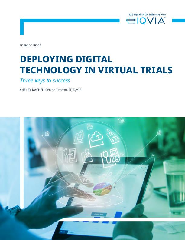 Deploying digital technology in virtual trials - IQVIA