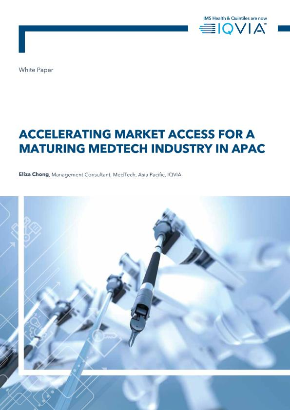 Accelerating market access for a maturing medtech industry in APAC