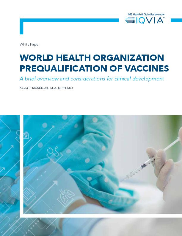 World Health Organization Prequalification of Vaccines